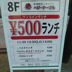 赤字覚悟で激安メニューを提供してくれるお店(2014年2月23日)