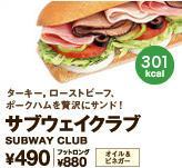 「SUBWAY」人気メニューBEST10